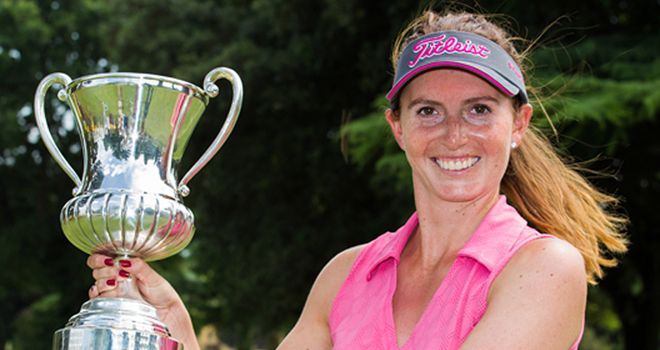 Florentyna Parker after winning the Ladies Italian Open on Sunday