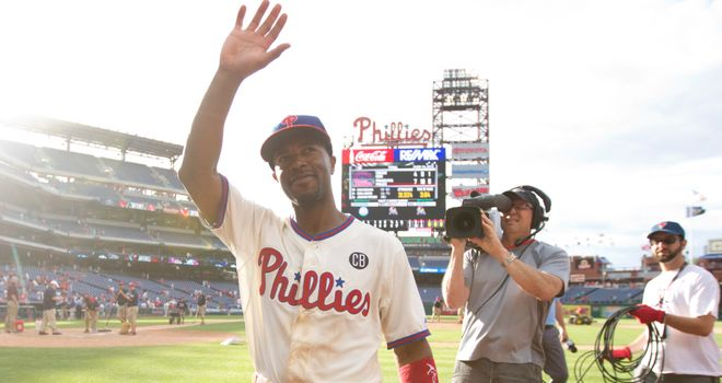Jimmy Rollins: Set a new record when he registered his 2,235th career hit