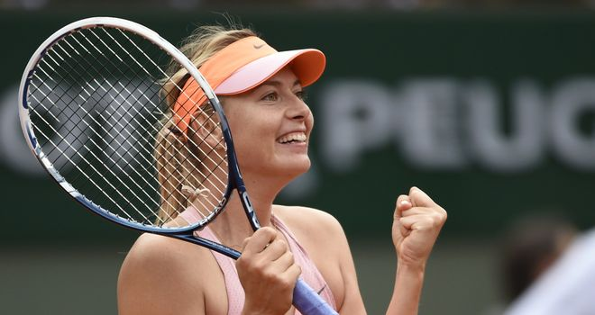 Maria Sharapova: Takes on Canada's Eugenie Bouchard on Thursday