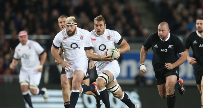 Chris Robshaw will be aiming to lead England to victory in Hamilton