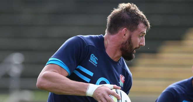 Tom Wood during England training ahead of the second Test