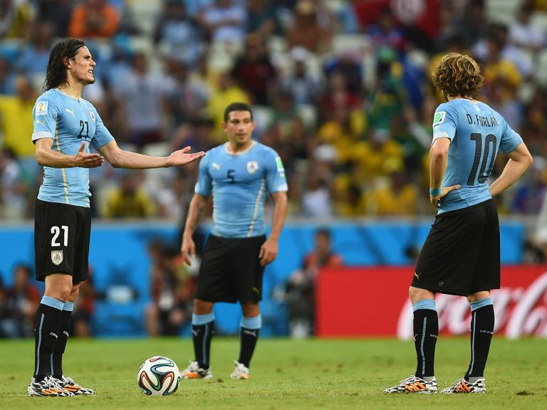 Uruguay were left frustrated after defeat to Costa Rica