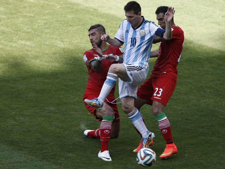 Lionel Messi netted Argentina's winner against Iran