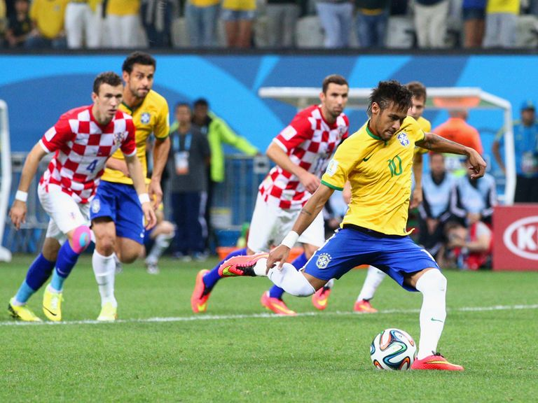 Neymar converted from the spot on Thursday night