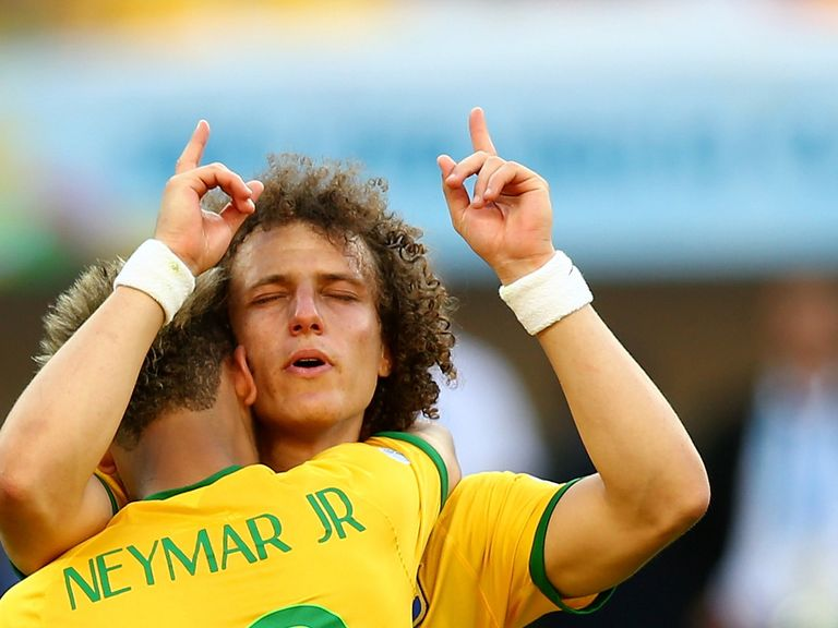 David Luiz: Got a slight touch to open the scoring for Brazil against Chile