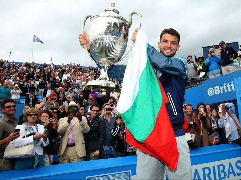 Grigor Dimitrov: Won the warm-up tournament at Queen's Club