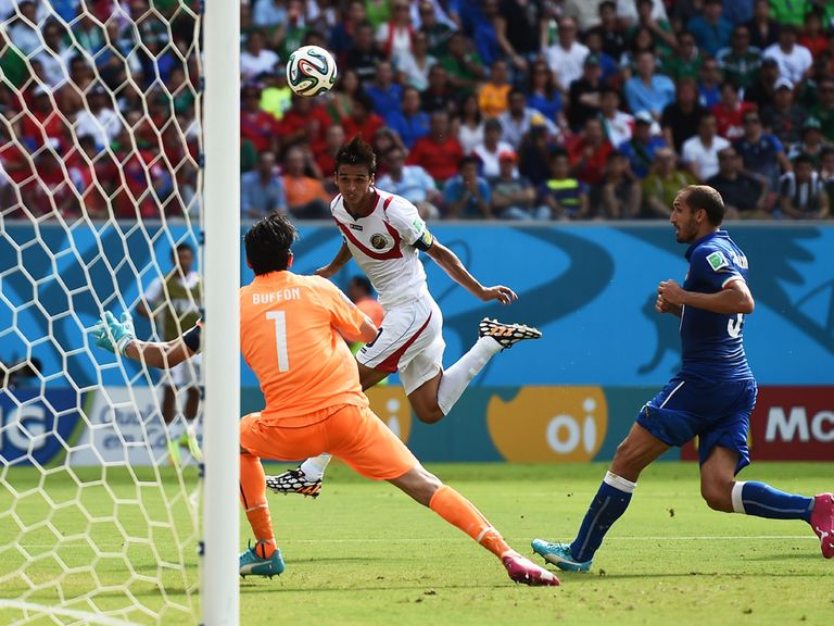 Bryan Ruiz scored the only goal of the game against Italy
