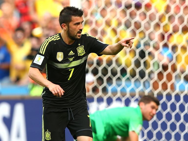 David Villa: Scored against Australia