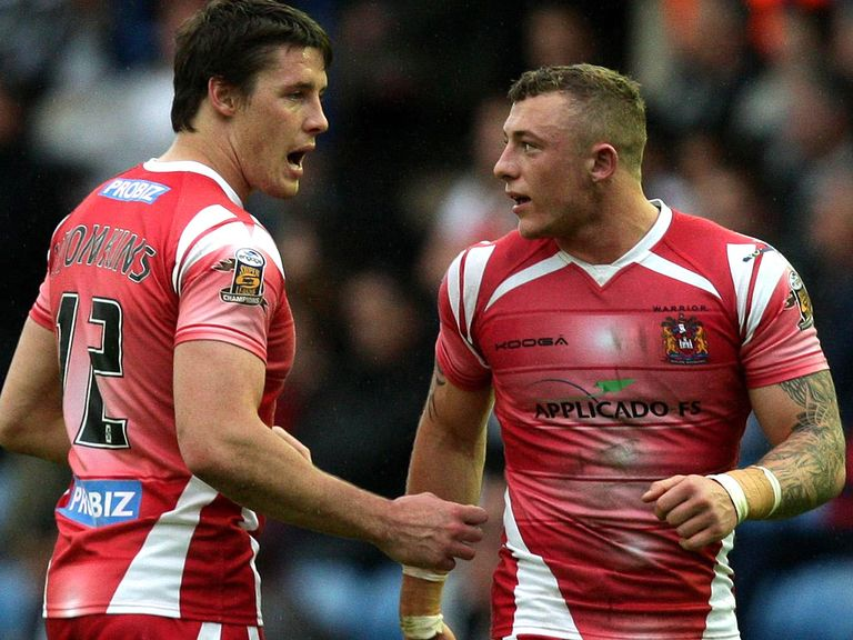 Joel Tomkins (left): Set to return for Wigan this week