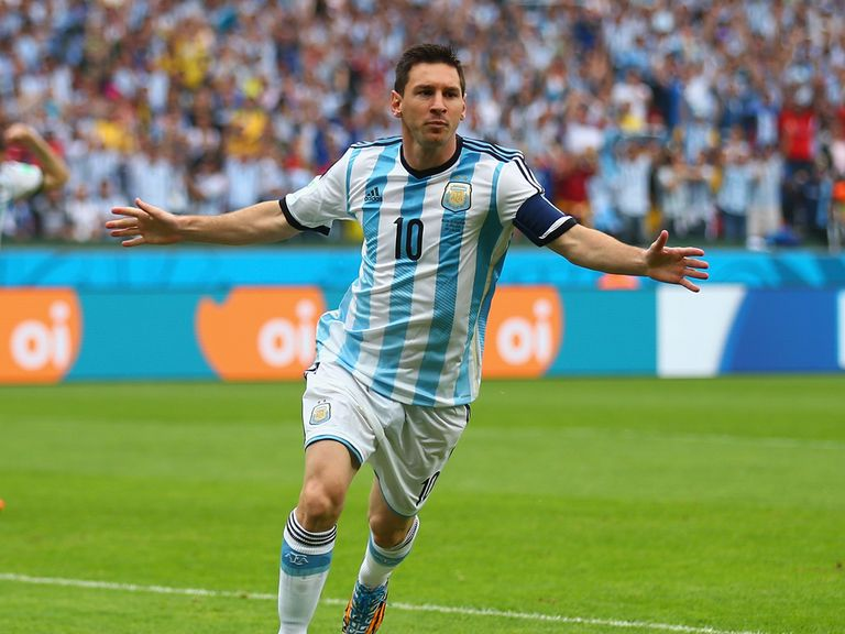 Lionel Messi: Two goals for Argentina against Nigeria