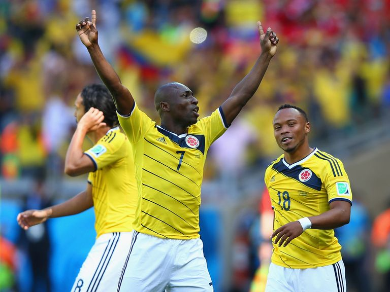 Pablo Armero: Opened the scoring for Colombia on Saturday