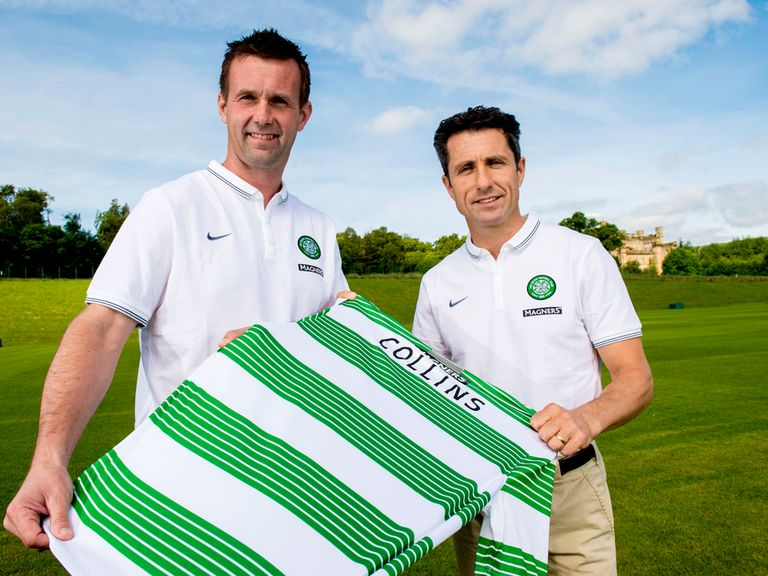 Celtic manager Ronny Deila with his new assistant John Collins.
