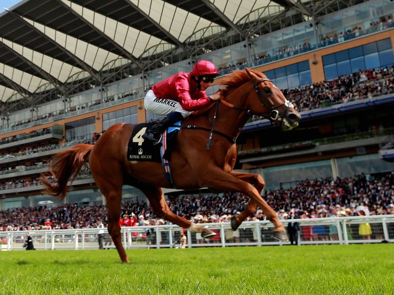 Eagle Top comes home clear at Royal Ascot under Buick.