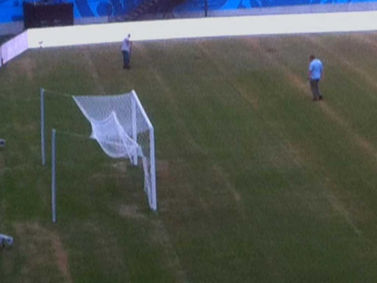 The pitch in Manaus was treated on Wednesday