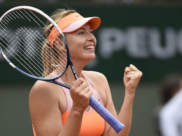 Maria Sharapova: Came from behind to beat Garbine Muguruza in the French Open quarter-finals