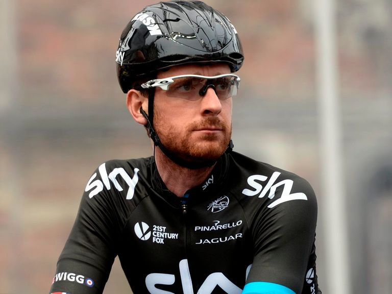 Sir Bradley Wiggins: Told a Italian newspaper he's staying at Sky