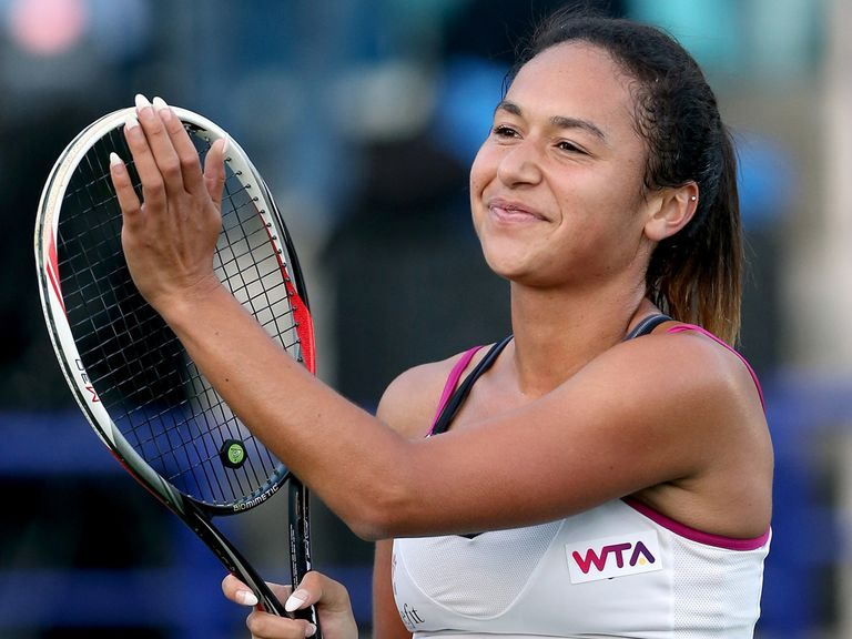 Heather Watson: Three-set winner over Pironkova