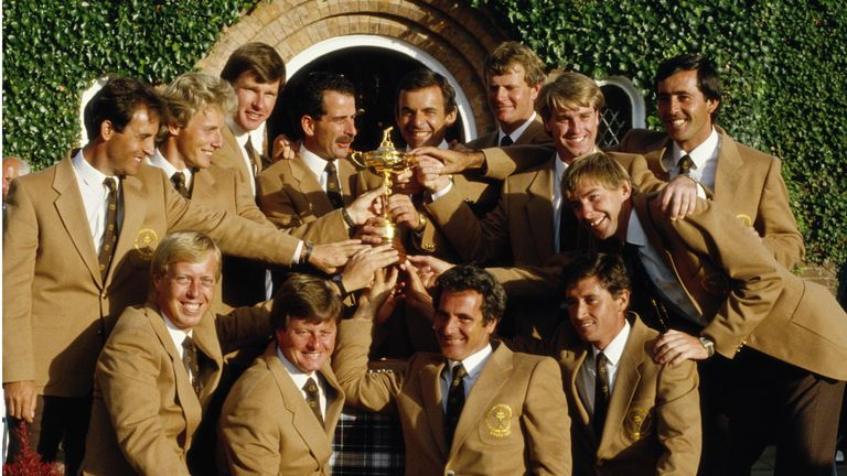Ballesteros' words inspired Team Europe to win the 195 Ryder Cup at The Belfry