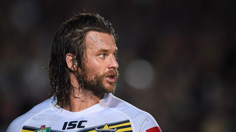 Ashton Sims: Played at the Halliwell Jones Stadium, his future home, during the World Cup