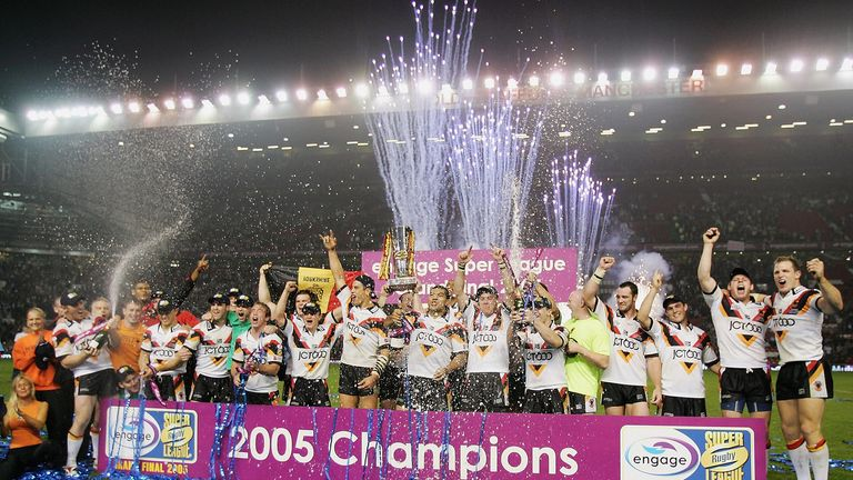 Bradford Bulls' last Super League title came in their 2005 win over Leeds at Old Trafford