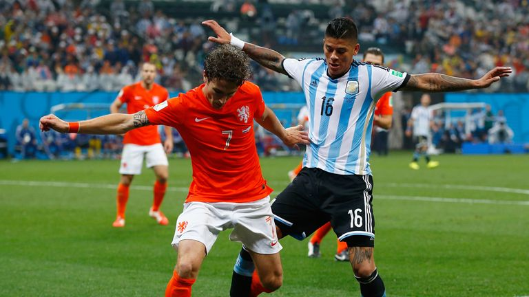 Marcos Rojo ranked among the top players at the World Cup for tackles and interceptions