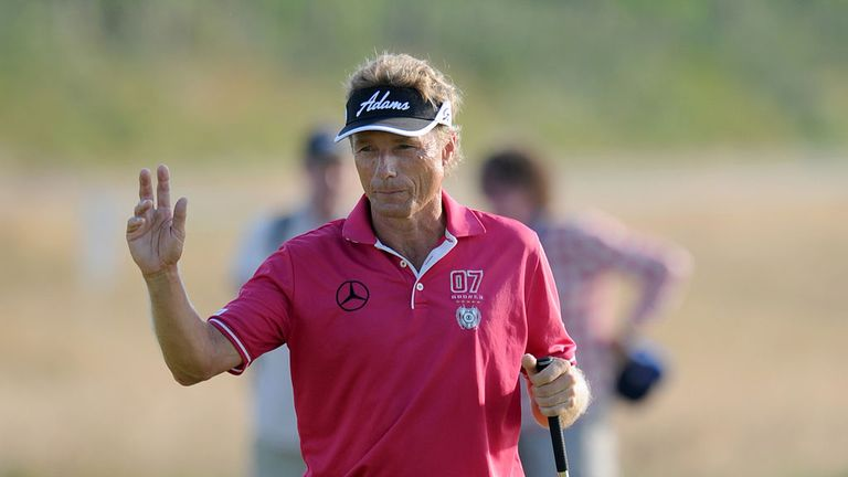 Bernhard Langer: Leading the way at the Senior Open