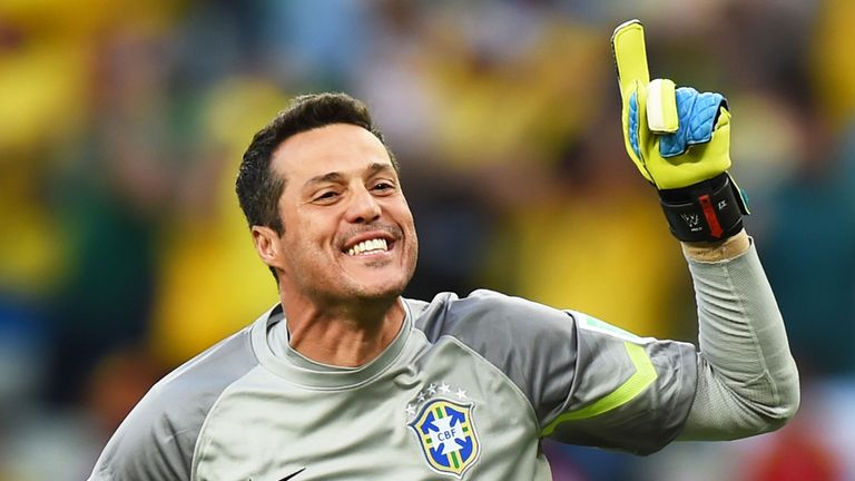 Julio Cesar: Featured in all seven of Brazil's World Cup games this summer.
