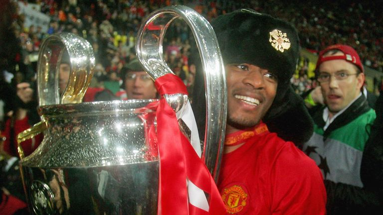 Evra won the Champions League during eight successful years at United