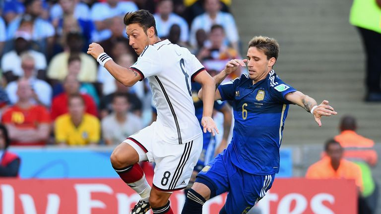 Mesut Ozil: Struggled to find a way through the Argentine defence