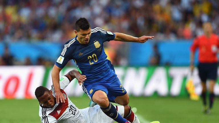 Sergio Aguero has played in many big games, including the 2014 World Cup final