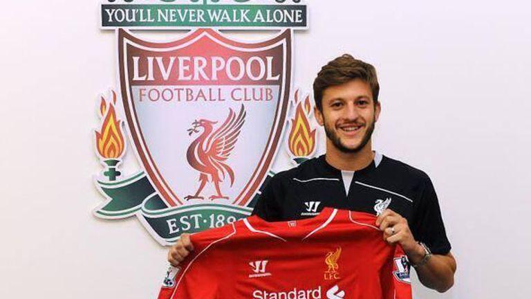 Adam Lallana: New arrival at Liverpool