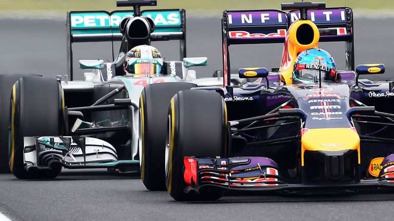 Hamilton was held up by Vettel for a long chunk of the race