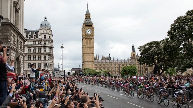 Big Ben awaited the riders in the capital