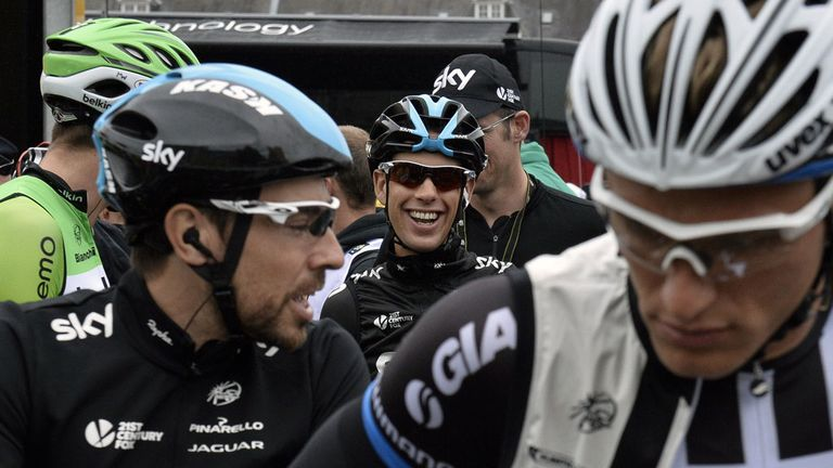 Richie Porte was all smiles before the start of stage six on Thursday