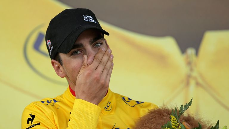 Tony Gallopin was in a state of disbelief after claiming the yellow jersey