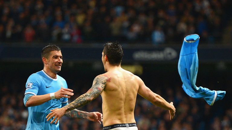 Aleksandar Kolarov and Stevan Jovetic: Happy to stay at Manchester City
