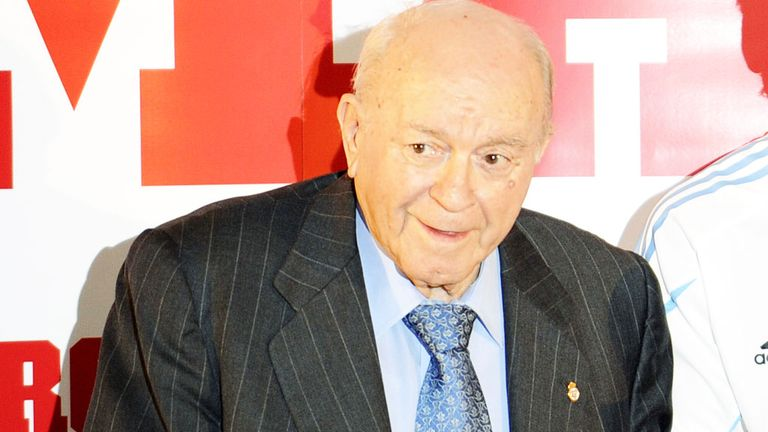 Alfredo Di Stefano: The former Real Madrid star is stable after suffering a heart attack
