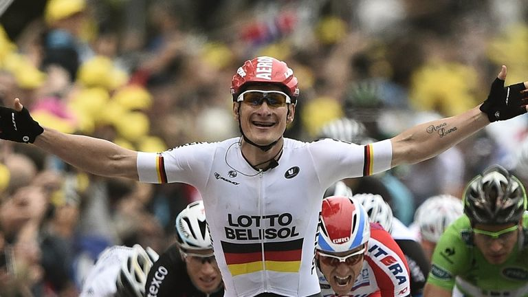 Andre Greipel claimed the sixth Tour stage win of his career