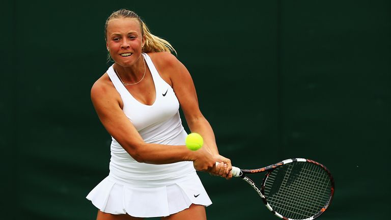 Anett Kontaveit: Estonian 18-year-old continued recent good form