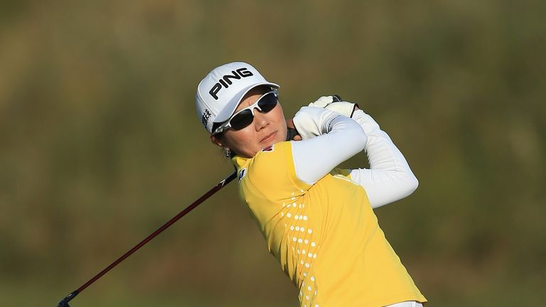 Ayako Uehara: During the first round of the Ricoh Women's British Open at Royal Birkdale