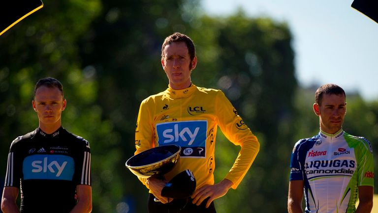 Vincenzo Nibali finished third behind Sir Bradley Wiggins and Chris Froome in 2012