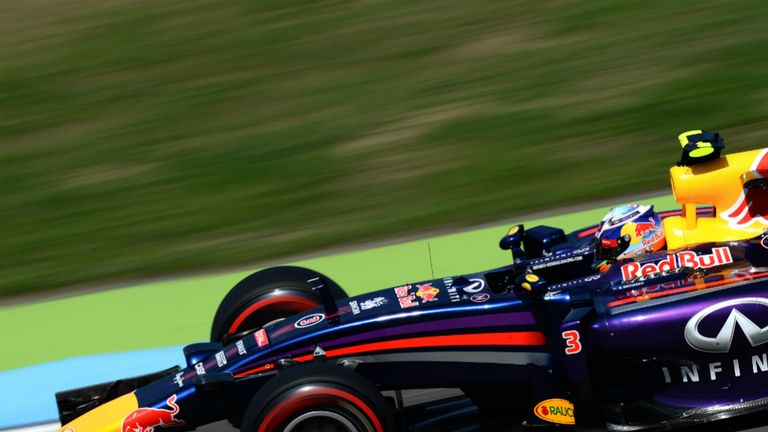 Daniel Ricciardo in Friday practice at Hockenheim