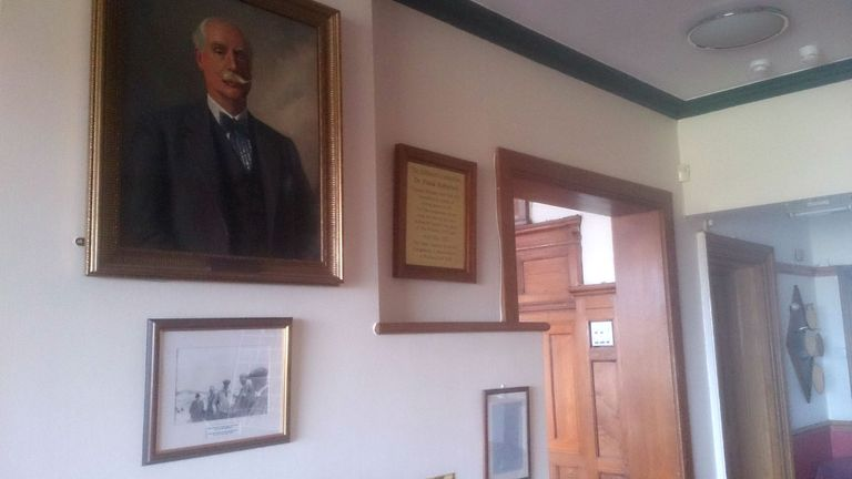 Portrait of Dr Frank Stableford at Wallasey golf club