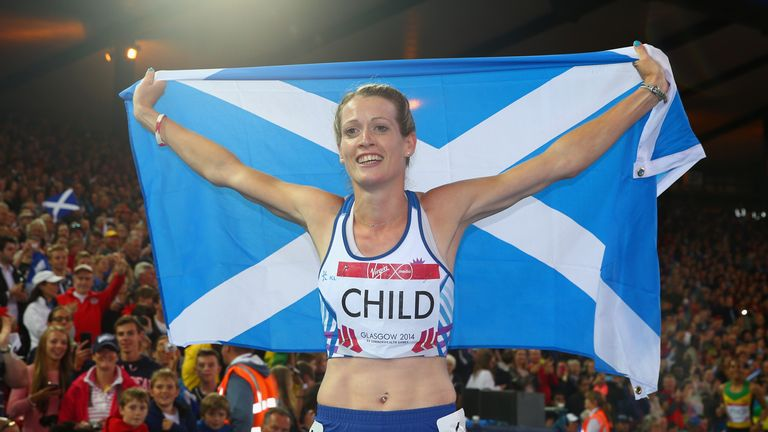 Eilidh Child: Was beaten to 400m hurdles gold by Jamaica's Kaliese Spencer