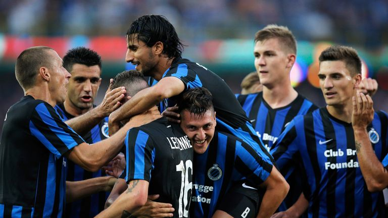 Castillo: Celebrates goal for Club Brugge