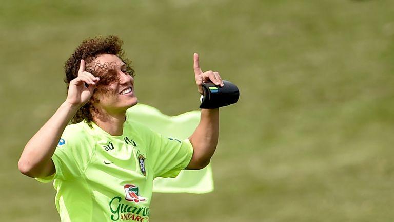 David Luiz: At training in Teresopolis on Monday