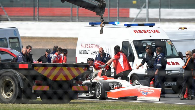 Jules Bianchi's day came to an early end after an engine fire