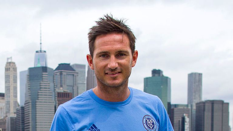 Frank Lampard has met up with his new Manchester City team-mates at training today.