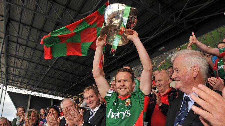 Mayo captain Andy Moran lifts the Nestor Cup