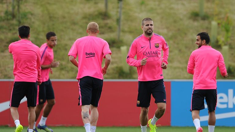 Pique: Training at Burton with Barca